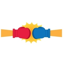 Boxing Gloves Hitting vector image