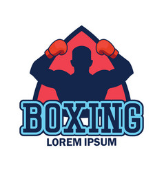 Boxing logo with text space for your slogan vector