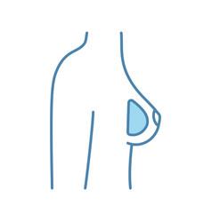 Breast silicone implant color icon vector