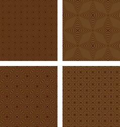 Brown seamless pattern background set vector image