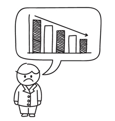 Business loss Graph vector image