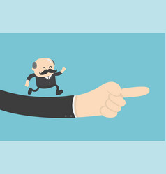 businessman hand is right concept business vector image