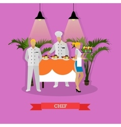 Chef headwaiter and vector