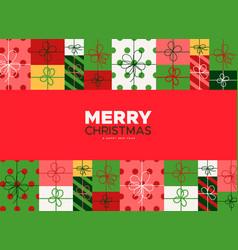 christmas and new year card holiday gift box vector image
