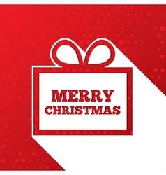 Christmas greetings card Christmas paper gift box vector image