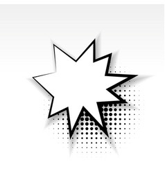 Comic empty paper star babble soft shadow vector