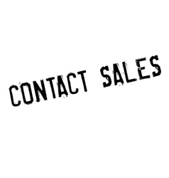 Contact Sales rubber stamp vector image