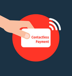 Contactless payment credit card vector