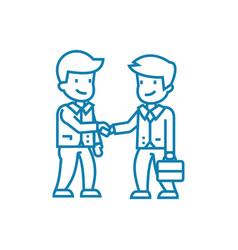deal arrangement linear icon concept vector image