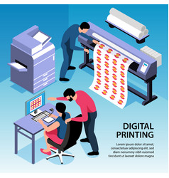 Digital printing isometric vector