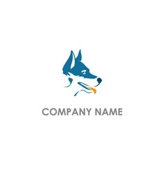 dog head animal logo vector image