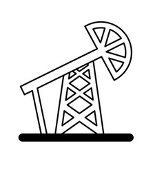 drilling oil plant icon vector image