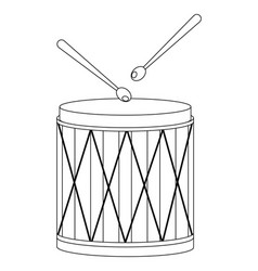drums icon isolated vector image
