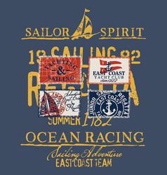 east coast sailing regatta yacht club vector image
