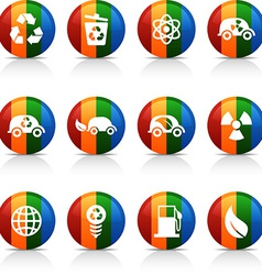 Ecology buttons vector image