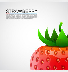 fresh realistic strawberry background vector image