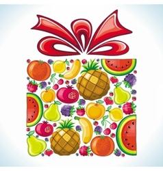 Fruity present vector image