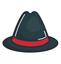 gentleman hat isolated icon vector image