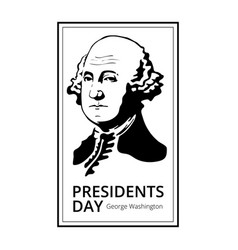 george washington silhouette to happy presidents vector image