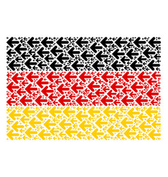 Germany flag collage of arrow left items vector
