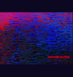 Glitched noise and distorted background vector