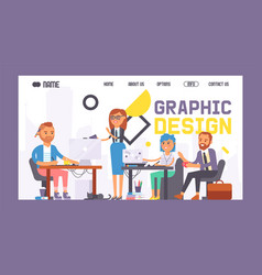 graphic design banner web design vector image