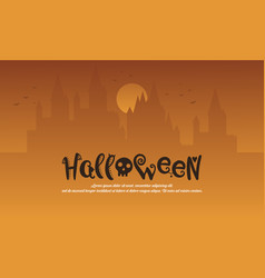 halloween with castle style background vector image vector image