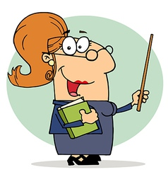 Happy Professor Woman vector image