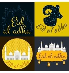 holiday named eid al adha festival vector image