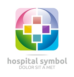 hospital medical colorful icon vector image
