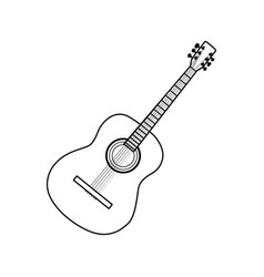 icon of acoustic guitar vector image