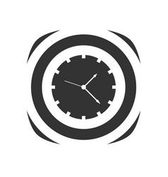 icon of simple clock vector image