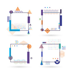 isolated colorful funny kids geometry notebook vector image