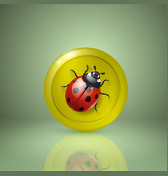 ladybird yellow style icon for app or web design vector image