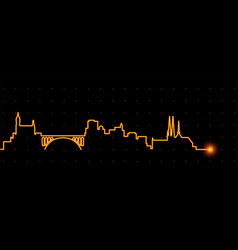 Luxembourg light streak skyline vector