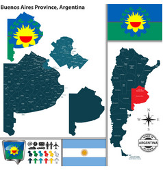 Map of buenos aires province argentina vector