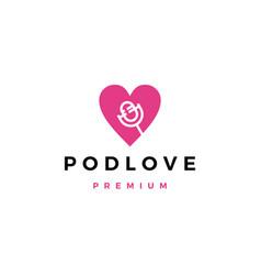 mic love podcast logo icon vector image