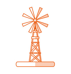 monocromatic windmill design vector image