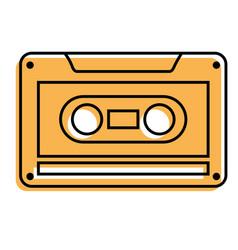 Old retro audio tape record listen vector
