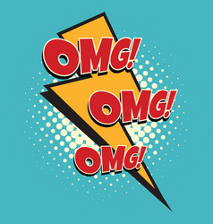 omg comic lightning vector image