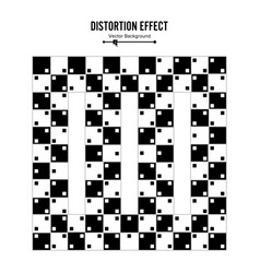 optical 3d art distortion vector image