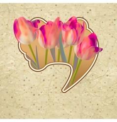 Ornate pink frame decoration EPS 10 vector image