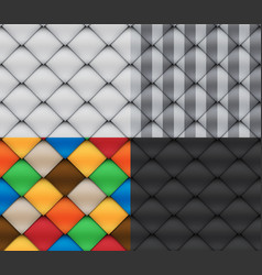 Patchwork set seamless patterns vector