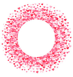 pink red valentines days hearts frame vector image