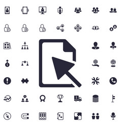 Pointer icon vector