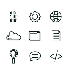 programming languages set icons vector image