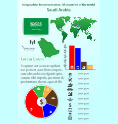 saudi arabia infographics for presentation all vector image