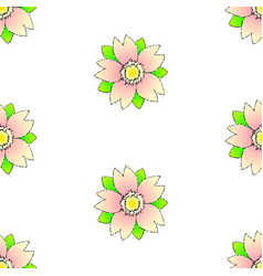 seamless sakura on white random pattern in vector image