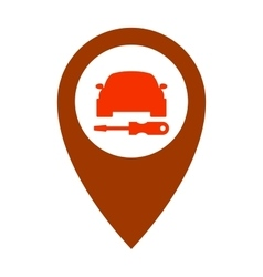 Service car assistance icon repair symbol vehicle vector image