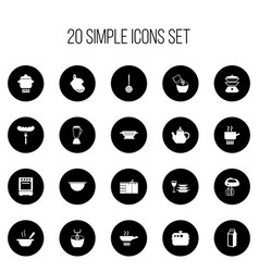 Set of 20 editable restaurant icons includes vector